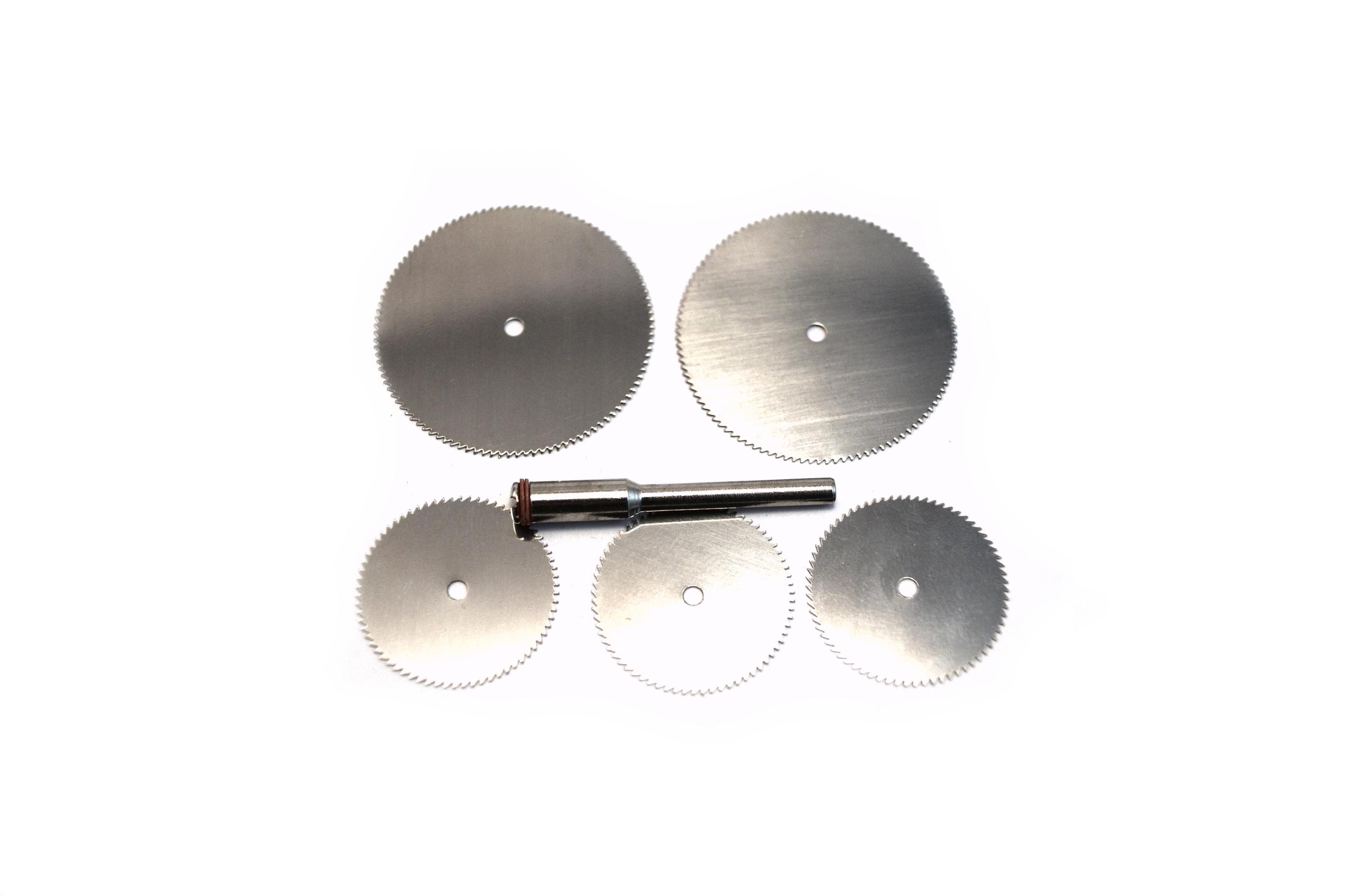 0,77€/eh] 5 x edelstahl sägeblatt + 1x dorn   2 x 32mm 3 x 23mm zb